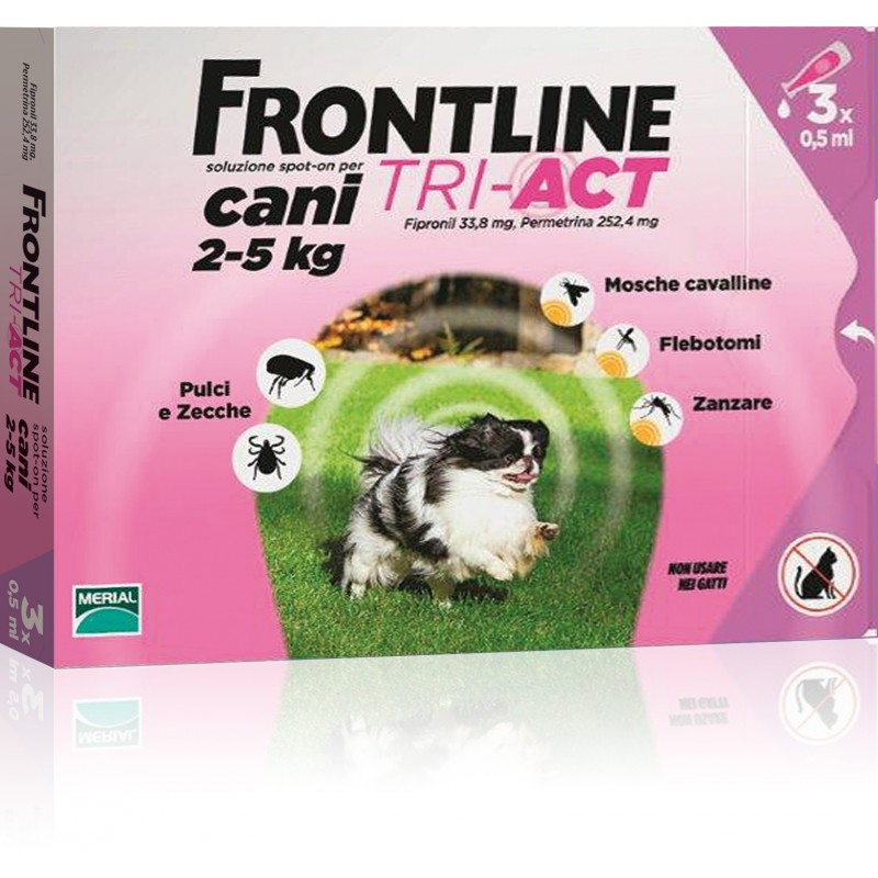 FRONTLINE TRI-ACT CANI 2-5 KG 3 PIP. (VFR54)