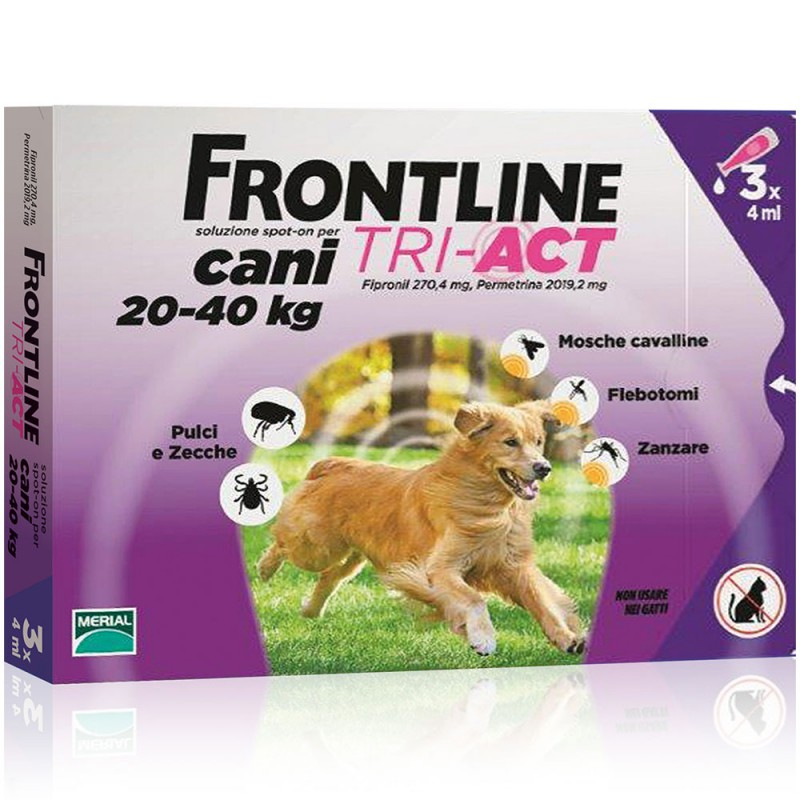 FRONTLINE TRI-ACT CANI  20-40 KG 3 PIP. (VFR52)
